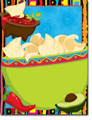 Paper So Pretty - Blank Designer Papers (Chips and Salsa Fiesta) (DP1030)